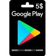 گیفت کارت 5 دلاری گوگل پلی