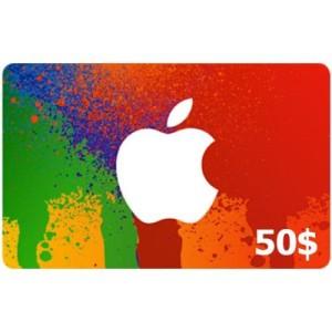 گیفت کارت 50 دلاری آیتونز