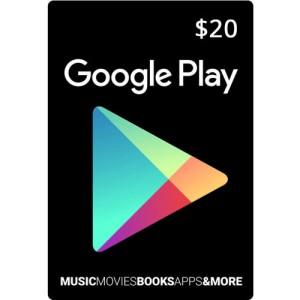 گیف کارت 20 دلاری گوگل پلی