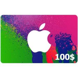 گیفت کارت 100 دلاری آیتونز